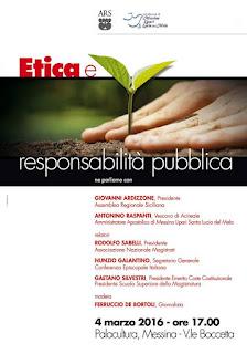 ARS: ETICA E RESPONSABILITA' PUBBLICA, MONS GALANTINO, SABELLI E SILVESTRI A MESSINA