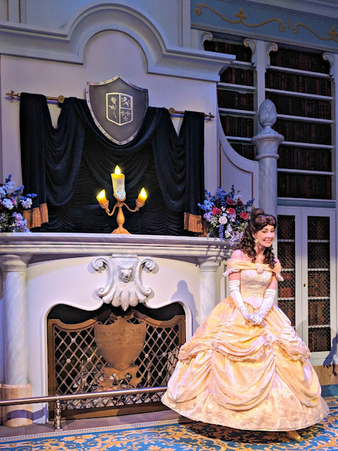Celebrating my Birthday at the Magic Kingdom - Belle Encounter at Magic Kingdom