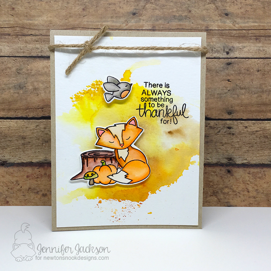 Fall card by Jennifer Jackson | STAMPtember exclusive: Bushels of Love Stamp set by Newton's Nook Designs #newtonsnook