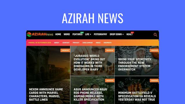 Azirah News Responsive Blogger Template