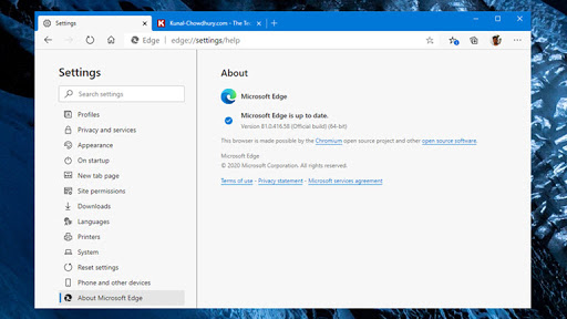 Microsoft Edge offline installer version 81.0.416.58 is now available for download