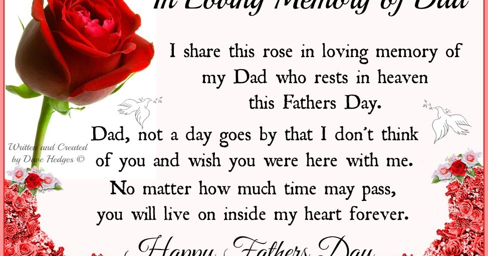 daveswordsofwisdom com in loving memory of dad this fathers day