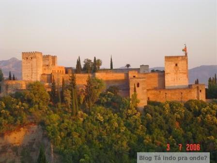 Alhambra vista do mirante de San Nicolas