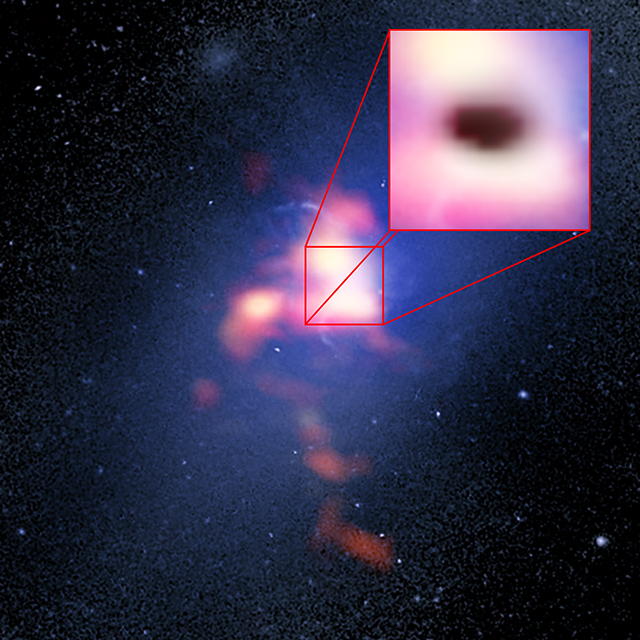 Scientists observe supermassive black hole feeding on cold ...