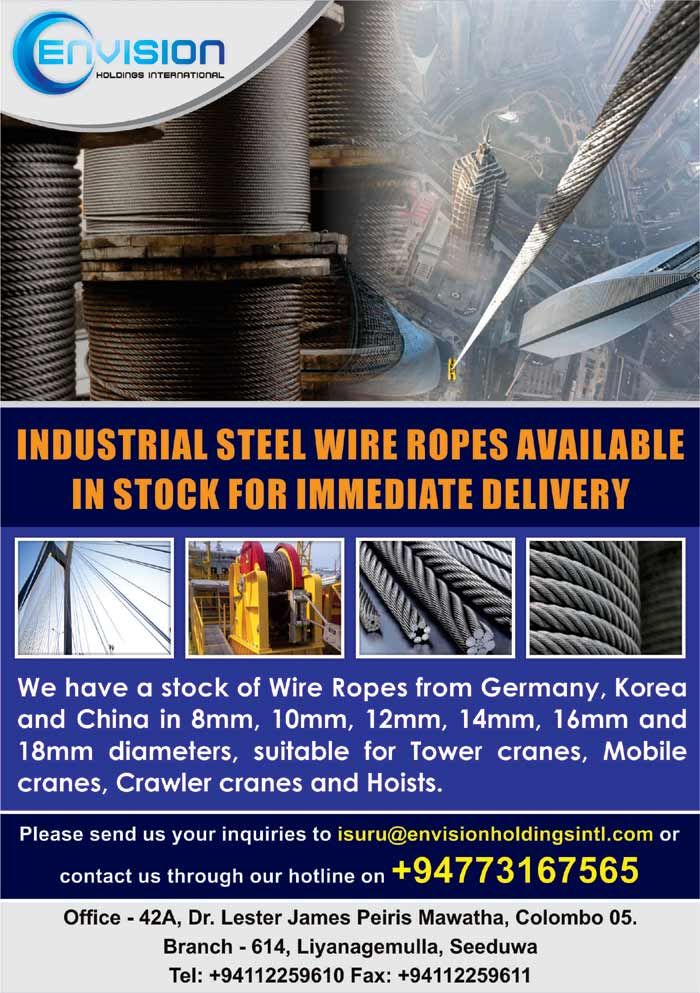 Envision | Industrial Steel Wire Ropes available in Stock.