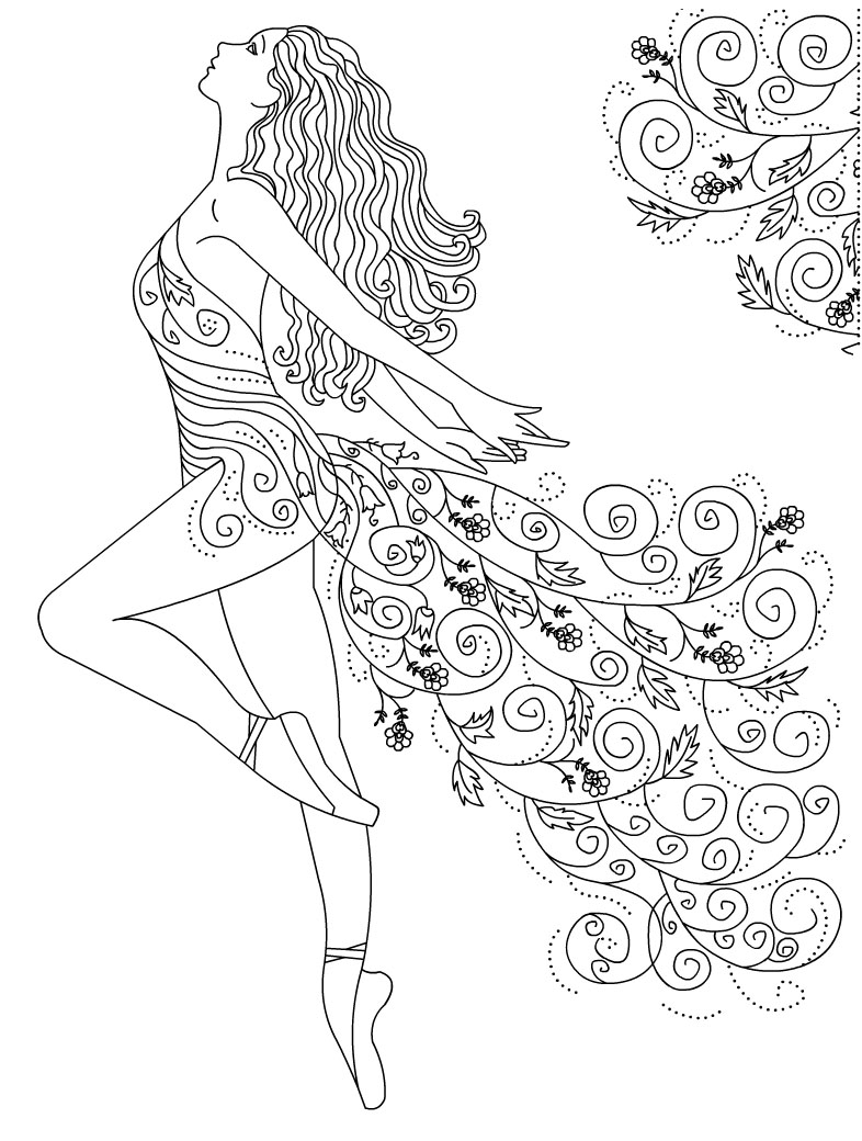 Disegni Ballerine Da Colorare