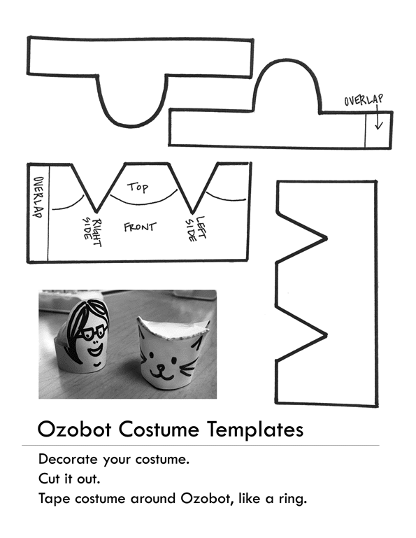 picture relating to Ozobot Printable titled : Free of charge Printable Ozobot Gown Template!