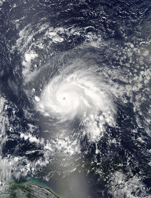 Hurricane Jose seen by Aqua satellite
