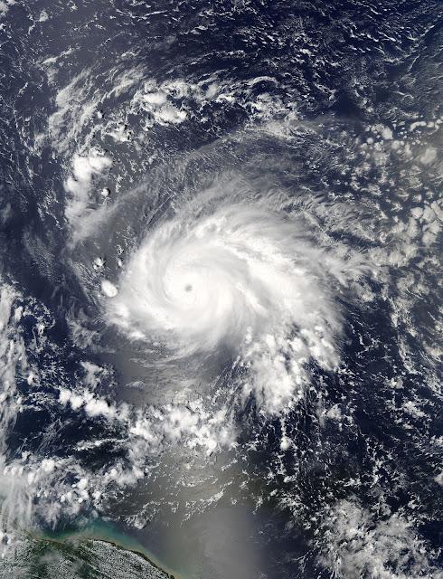 Hurricane Jose seen by Aqua satellite