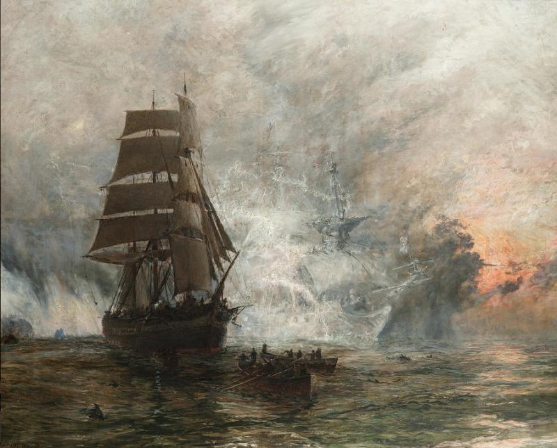 El vaixell fantasma (William Lionel Wyllie)