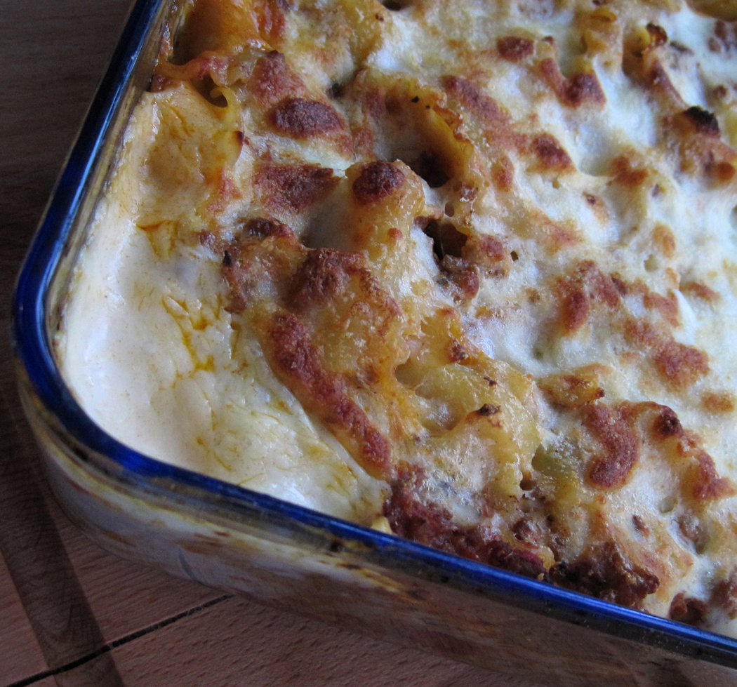 Fiorelli Pasta Bake from the oven