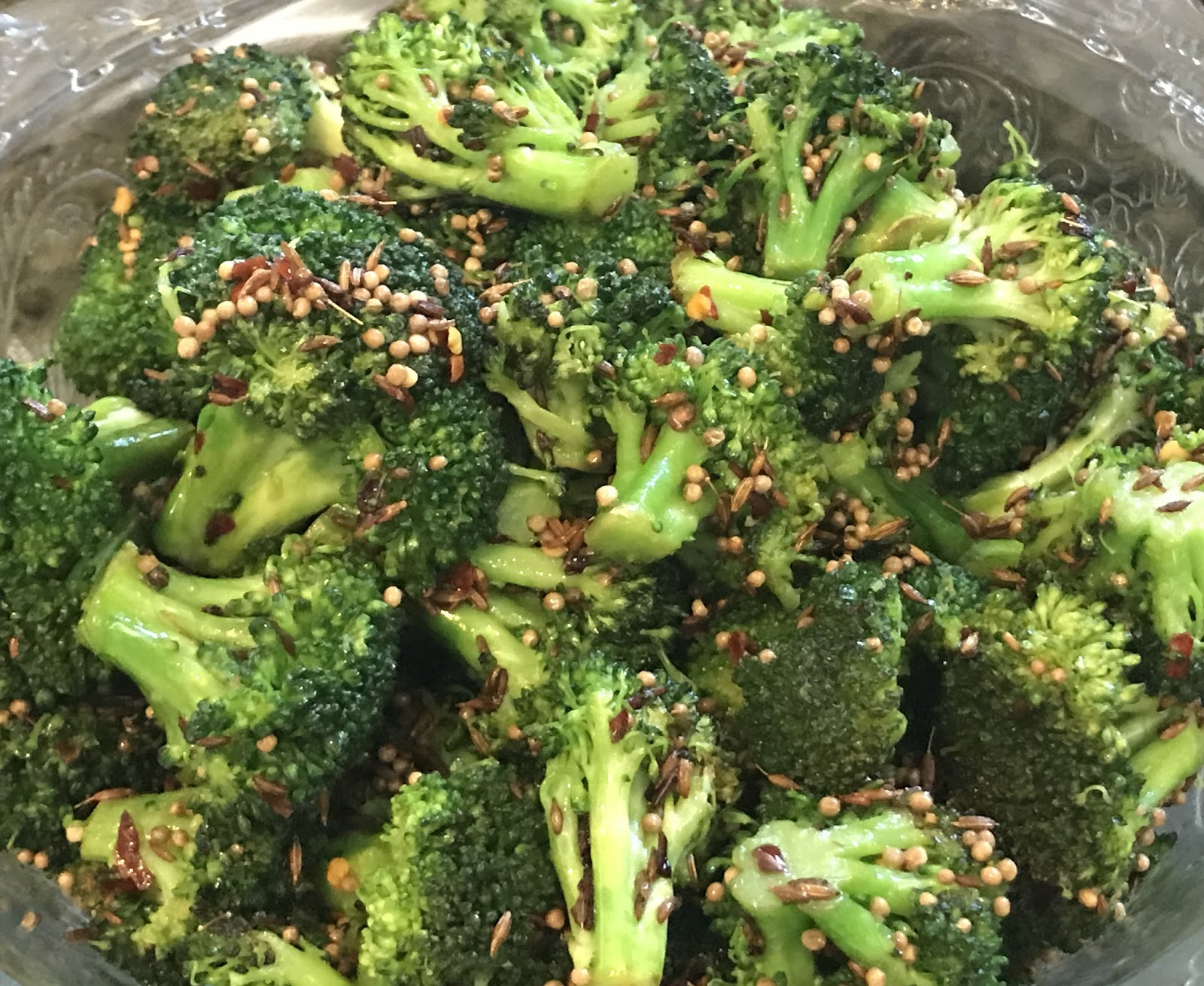 Sauteed Broccoli with Cumin and Mustard Seeds