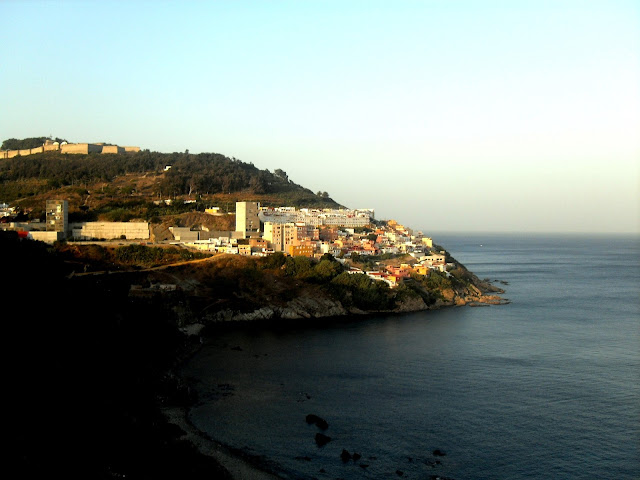Vistas de la costa de Ceuta