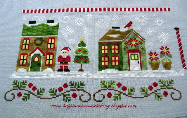 Country Cottage Needlework Santa's Village