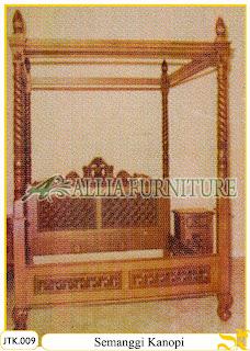 Tempat Tidur Kanopi Ukiran Semanggi Allia Furniture