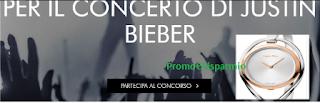Logo Con Calvin Klein vinci il concerto di Justin Bieber