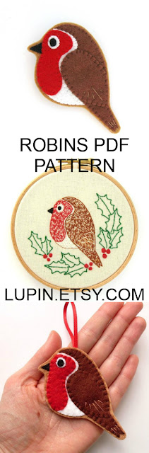 Robin PDF Sewing Tutorial & Embroidery Pattern by Laura Lupin Howard