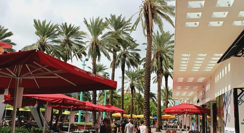 Lincoln Road Mall Miami Beach Florida