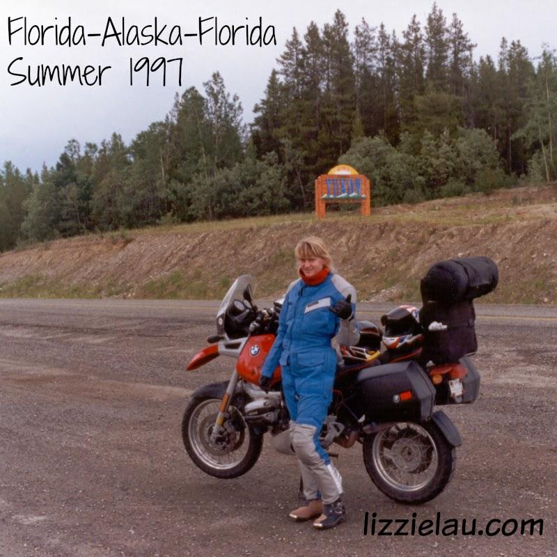 Lizzie Lau Florida to Alaska on a BMW