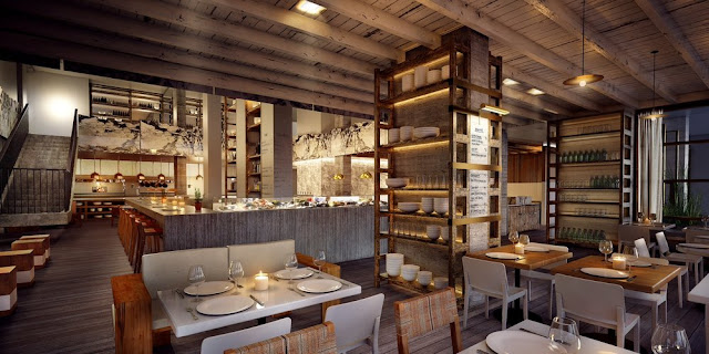 Interior do restaurante Beachcraft em Miami