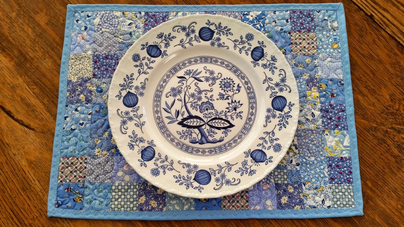 Sunday Scraps - My Blue Place Mat
