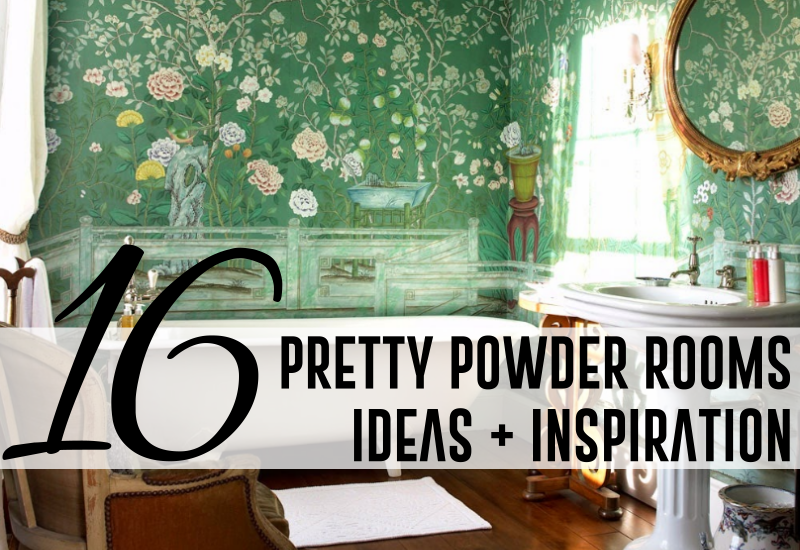 16 pretty powder rooms ideas inspiration Pretty powder room ideas