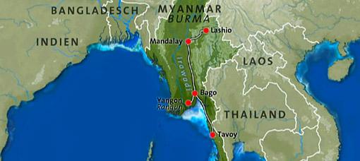 Myanmar railway backbone