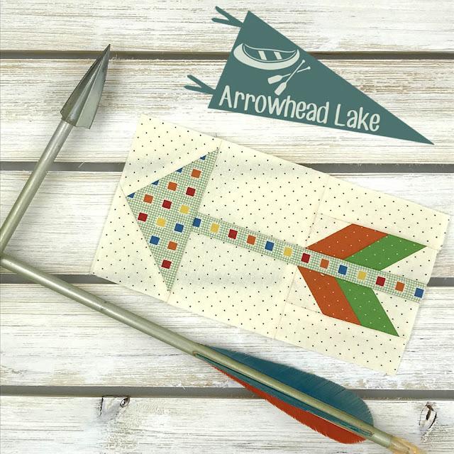 Arrowhead Lake Block Designed By Thistle Thicket Studio. www.thistlethicketstudio.com