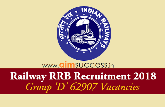 Railway Recruitment 2018 62,907 Vacancies