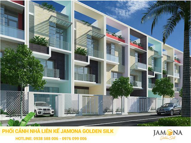 Phối cảnh thiết kế nhà phố liên kế trong dự án Jamona Golden Silk quận 7 Sacomreal