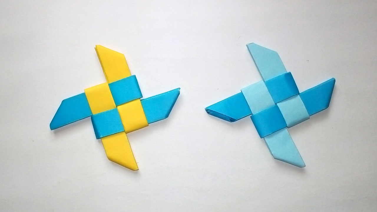 Easy Origami Ninja Star Tutorial - Paper Kawaii | 720x1280