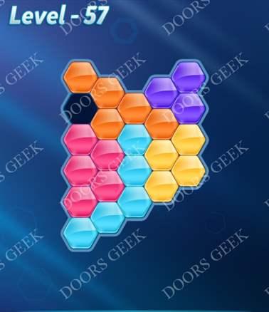 Block! Hexa Puzzle [Intermediate] Level 57 Solution, Cheats, Walkthrough for android, iphone, ipad, ipod