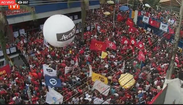 Resultado de imagem para TVT na cobertura do calvário de Lula