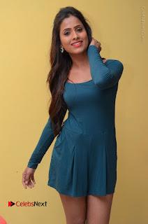 Telugu Actress Prasanthi Stills in Green Short Dress at Swachh Hyderabad Cricket Press Meet  0040.JPG
