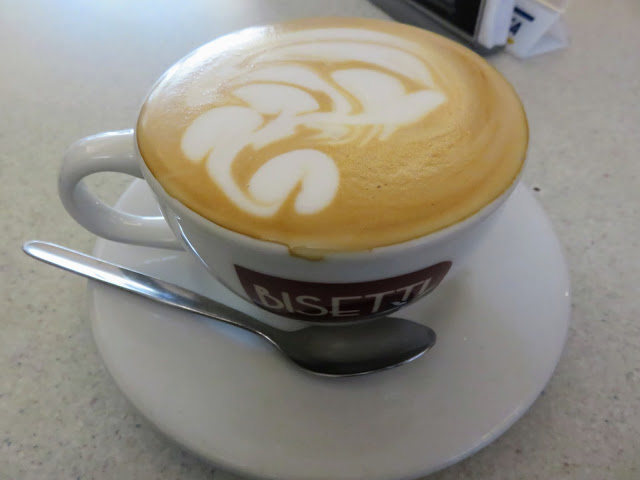 Organic cappuccino coffee from Cafe Bisetti in Lima Peru
