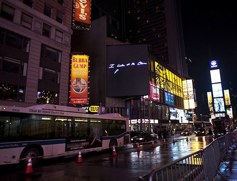 Times Square Tracey Emin art