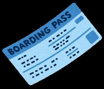 搭乗券のイラスト(斜め)