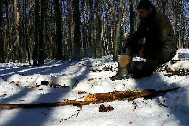 fire under snow