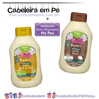 Máscaras Veganese Tô De Cacho - Salon Line (No Poo)