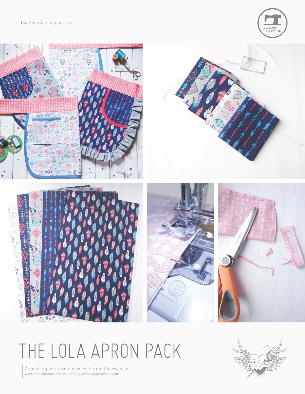 FREE Apron Sewing Pattern + Tutorial: The Lola Apron Pack
