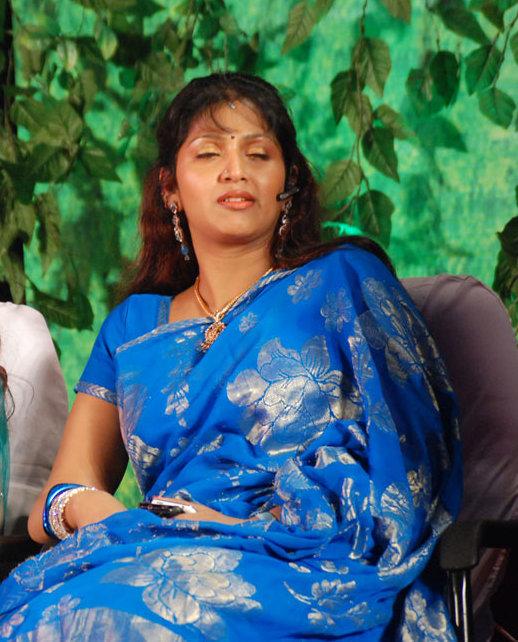 Tollywood Item Girl Buvaneswar Hot Blue Saree Images