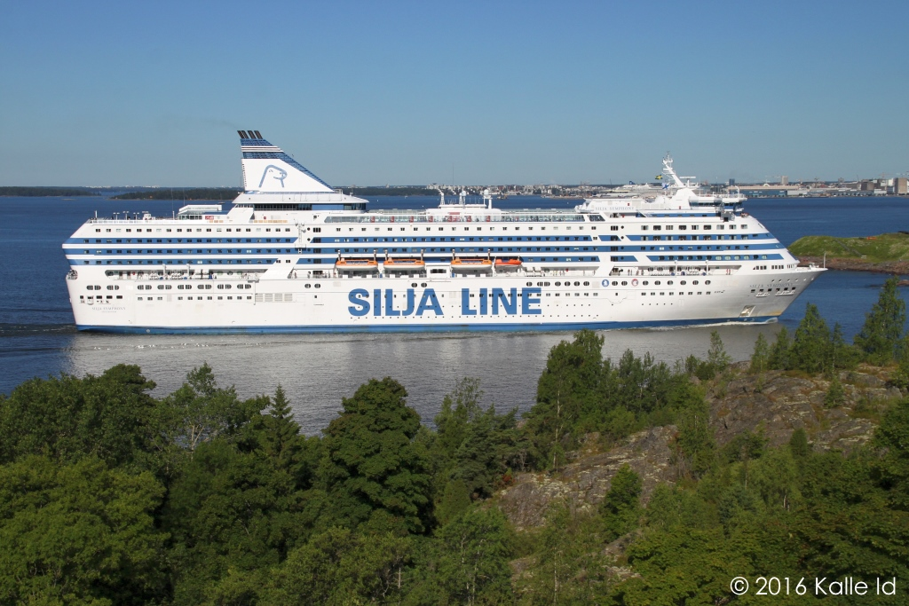 kships: Silja Symphony in Helsinki, 19 July 2016