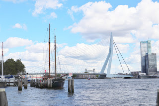 Rotterdam world port days erasmus bridge ship