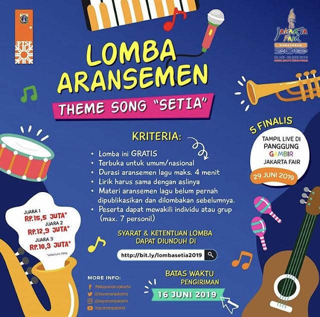 Lomba Aransemen Lagu Theme Song Setia 2019 Umum Gratis