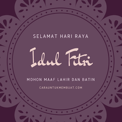 Idul Fitri 2019 1 Syawal 1440 H