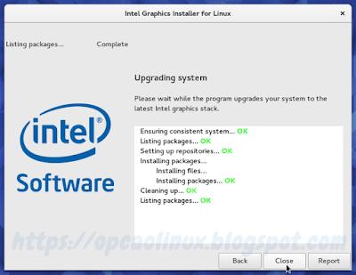 Drivers Intel instalados com sucesso!