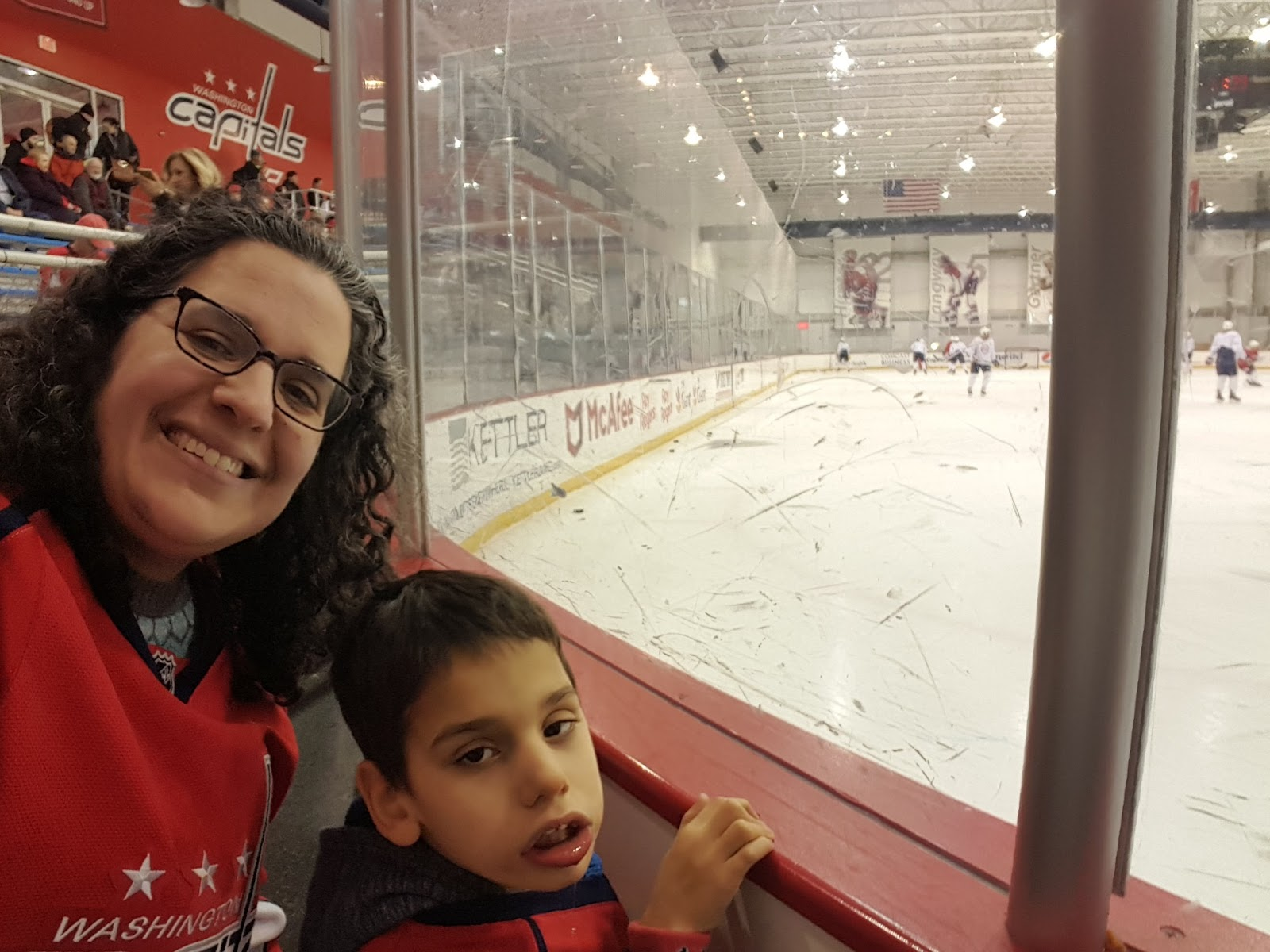 1fa144b2 Today was Zachary's 6th time participating in Dreams for Kids DC's Caps  hockey clinic. Read about our previous experiences here: 2017, 2016, 2015,  2014, ...