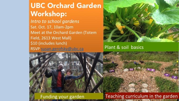 The Orchard Garden October 17 Orchard Garden Workshop