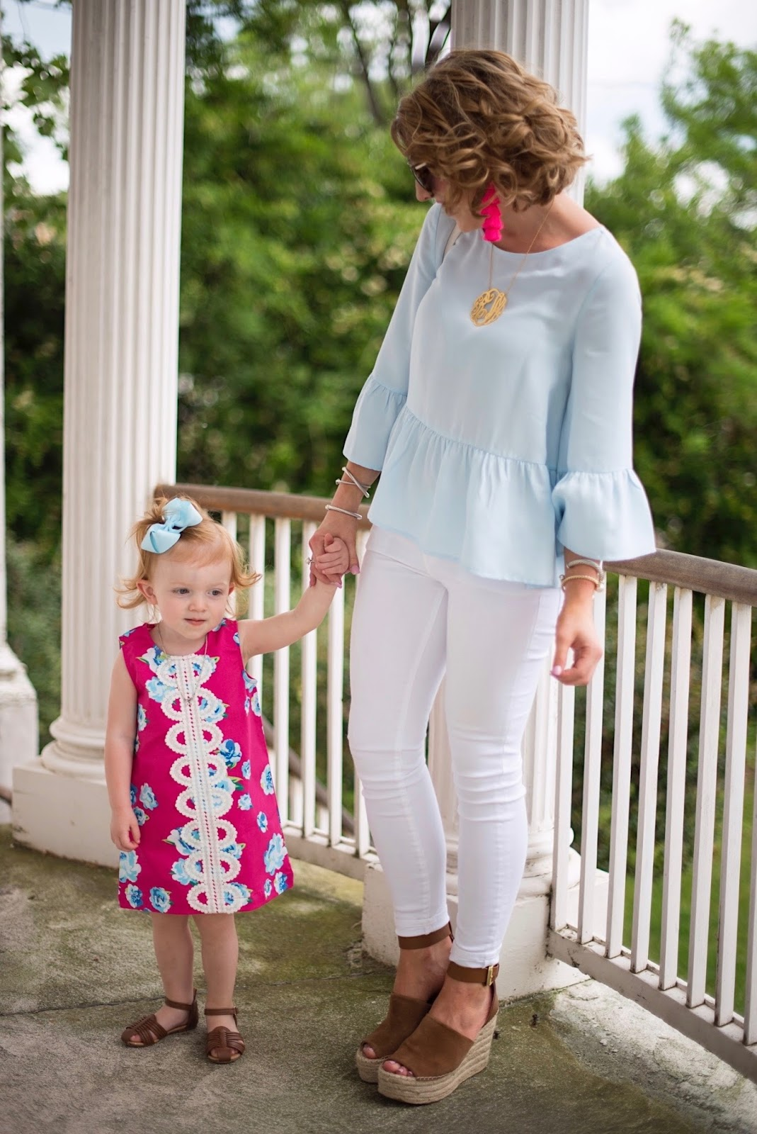 Coordinating Mommy and Me Outfits - Click through to see more on Something Delightful Blog.