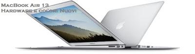 MacBook Air 13 Hardware Colori Rinnovati